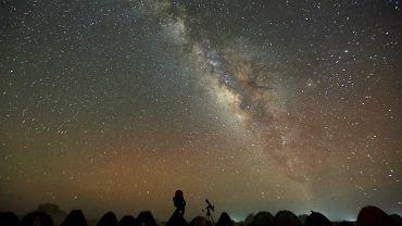 Droga Mleczna widziana z pustyni Białej