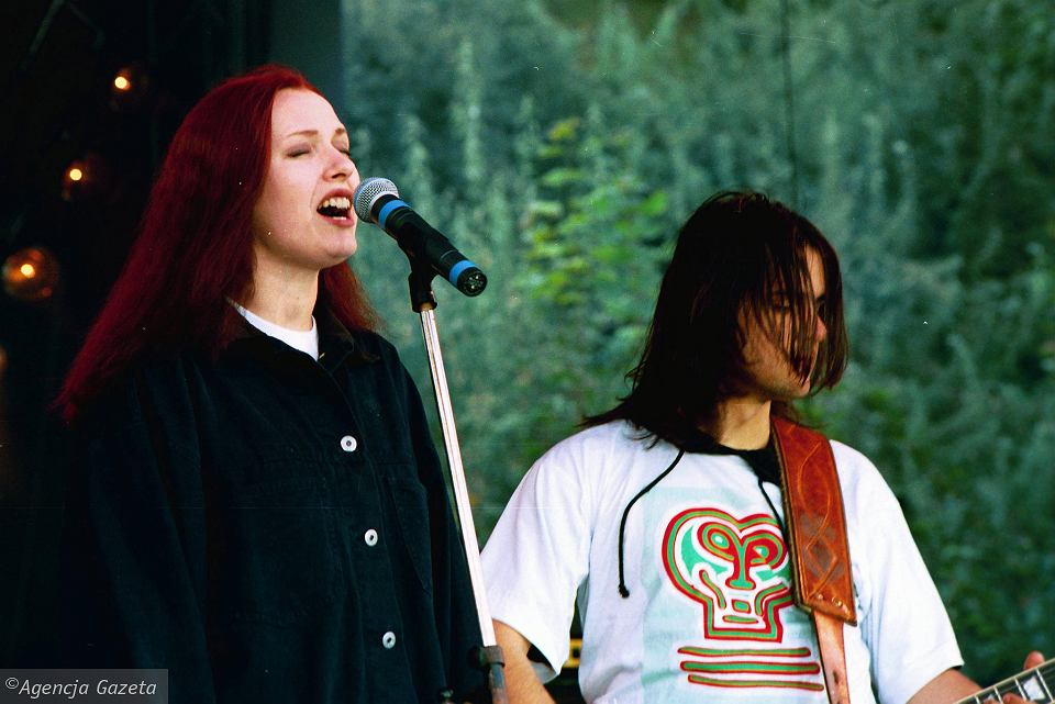 Katarzyna Nosowska z czasów 'Teksańskiego'. Koncert z września 1993 r. na warszawskiej Agrykoli