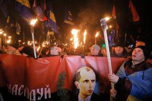Ukraina: Marsze z okazji 106. urodzin Stepana Bandery
