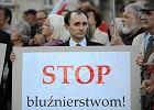 """Protest przeciw """"Golgota Picnic"""" przed Ministerstwem Kultury"""