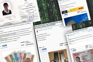 Fałszywe dokumenty, pieniądze, broń, narkotyki oferowane w polskim serwisie ogłoszeniowym