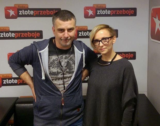 Tomek Brhel i Ania Wyszkoni w programie 'Cała Muzyka'