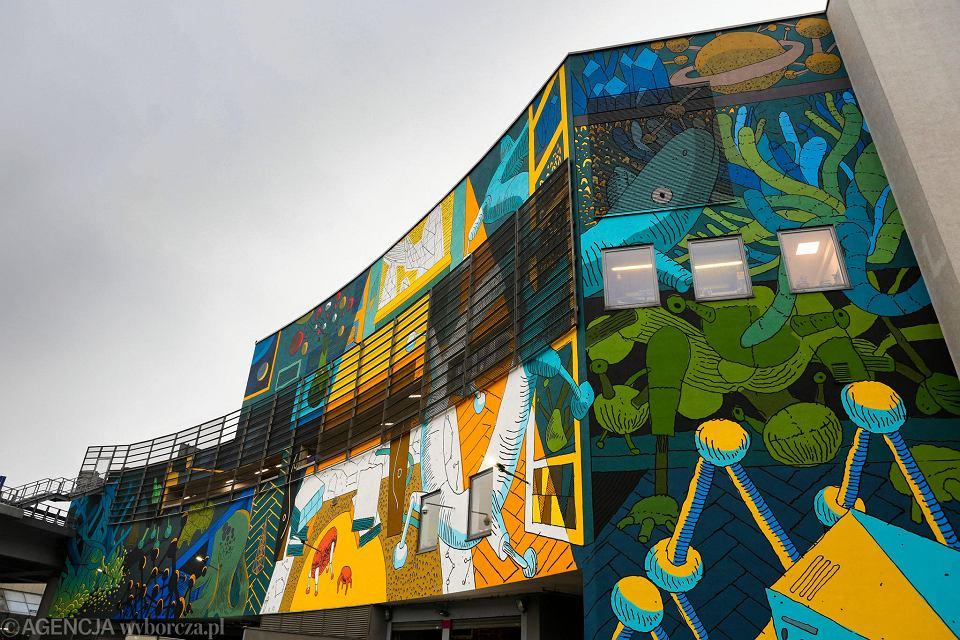 Mural dla lema ju gotowy ozdabia cian galerii for Mural na tamie w solinie
