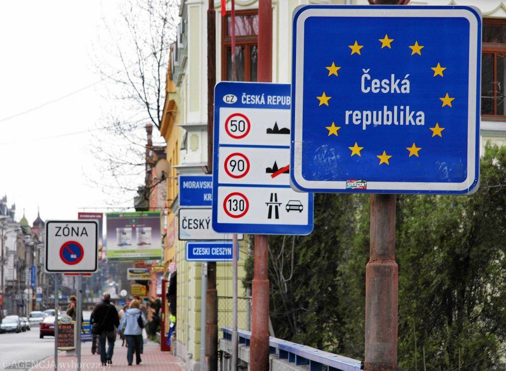 Granica między Polską a Czechami w Cieszynie