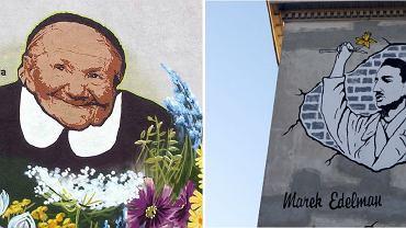 Murale Ireny Sendlerowej i Marka Edelmana