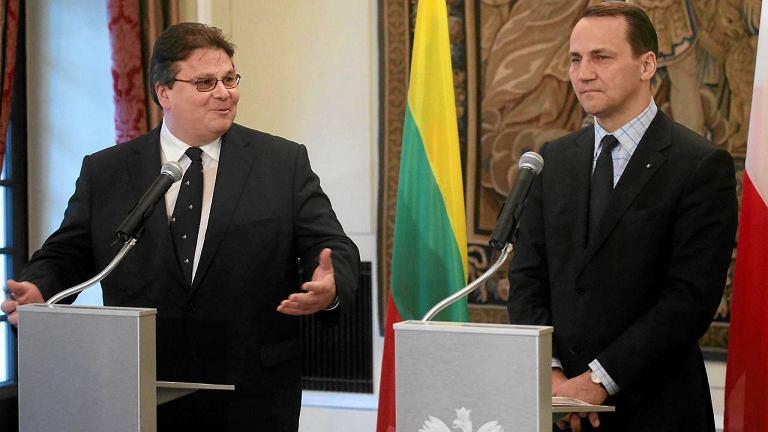 Linas Linkeviczius i Radosław Sikorski