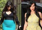 Kim Kardashian do tej pory chodzi�a w kreacjach bardzo podkre�laj�cych ci��owy brzuszek. A tym razem pokaza�a...