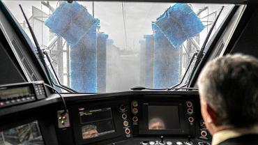 Otwarcie automatycznej myjni dla pociągów Kolei Śląskich w Katowicach