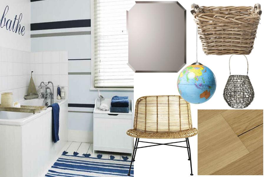 dodatki, wnętrza, łazienka, styl morski, styl marynistyczny