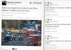 Relacjonowa�a na Twitterze wypadek drogowy. Nie wiedzia�a, �e zgin�� w nim jej m��
