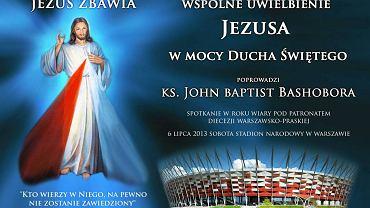 """Plakat reklamujący spotkanie """"Jezus na Stadionie"""""""