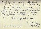 Jan Kochanowski - autograf