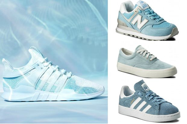 buty sportowe błękitne