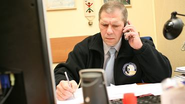 Szef policyjnych związków zawodowych w Łódzkiem Krzysztof Balcer, negocjator policyjny, zastępca komendanta powiatowego w Łęczycy