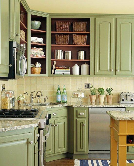 Półki w kuchni zamiast szafek -> Kuchnia Weglowa Bez Weżownicy