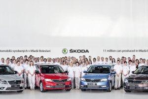 �koda wyprodukowa�a 11 mln aut w Mladá Boleslav