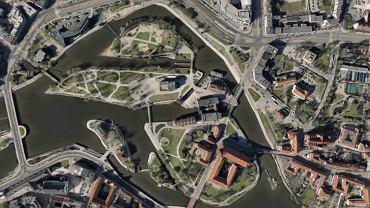 Wrocław widziany z satelity