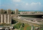 Katowice. Spodek i fragment Ronda w latach 1980-1990