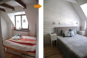 Dekoracje w sypialni: trójwymiarowe  panele