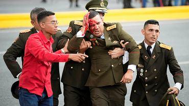 Do próby zamachu doszło podczas przemówienia prezydenta Maduro