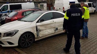 Mercedes zatrzymany po pościgu na autostradzie A2