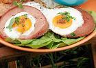 Jajka sadzone w mortadeli