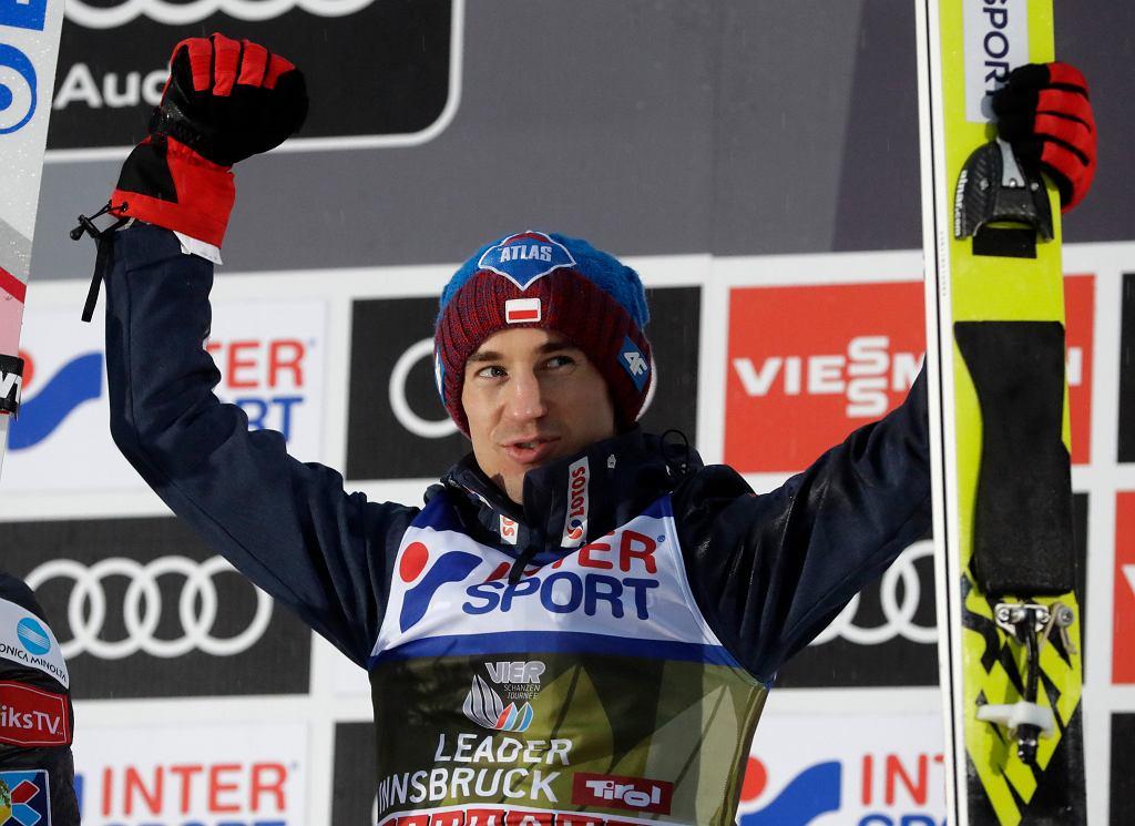 Kamil Stoch podczas konkursu skoków w Innsbruck