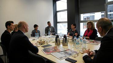Uczestnicy debaty zorganizowanej w naszej redakcji
