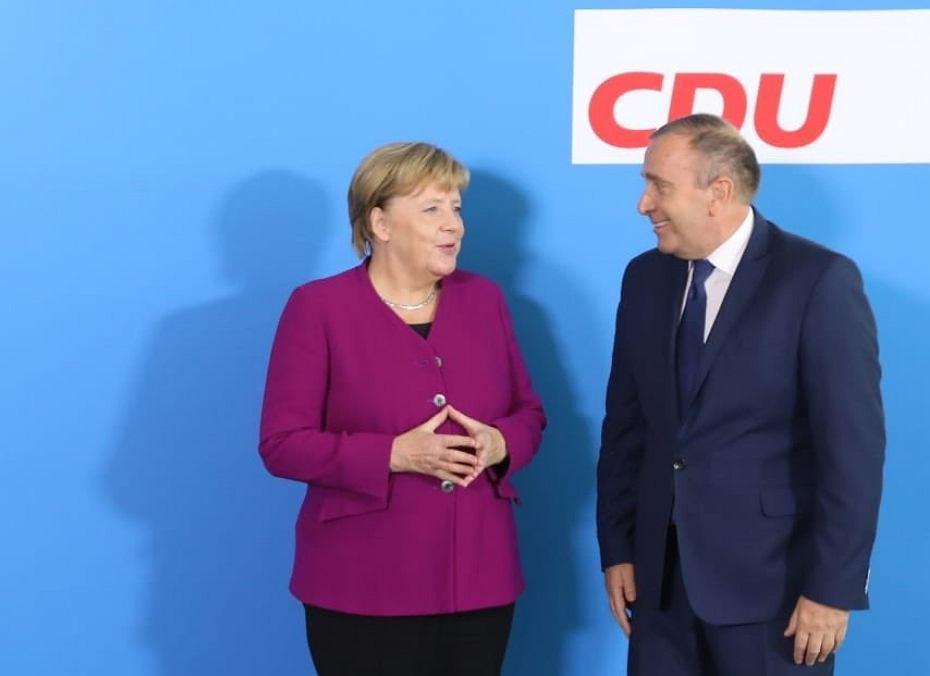 Angela Merkel i Grzegorz Schetyna