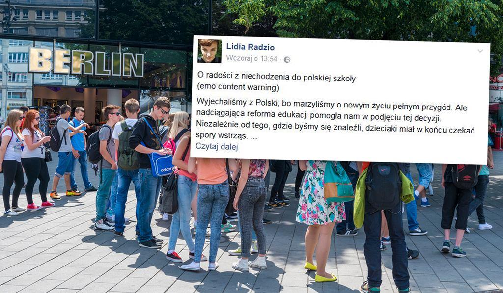 Polka, która przeprowadziła się do Berlina, pisze o różnicach między polską i niemiecką szkołą
