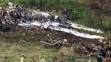 10.02.2018, wraz izraelskiego F-16 w okolicach kibucu Harduf w północnym Izraelu.