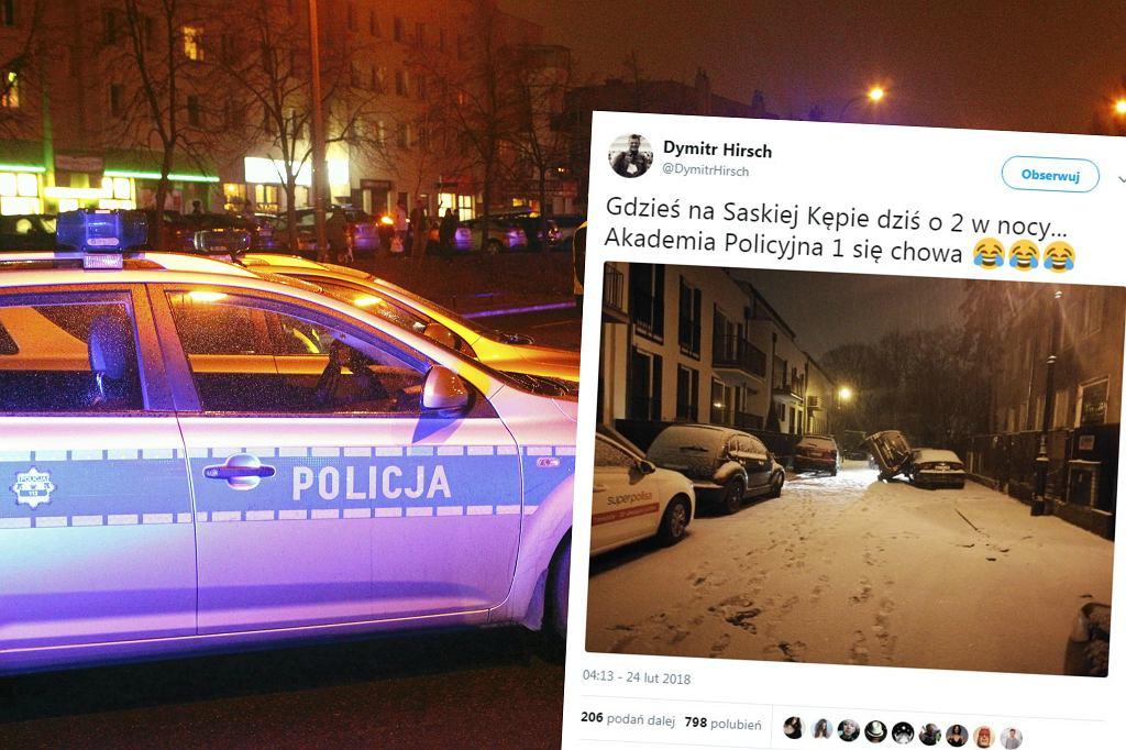 Kolizja na ul. Czeskiej i policyjny radiowóz