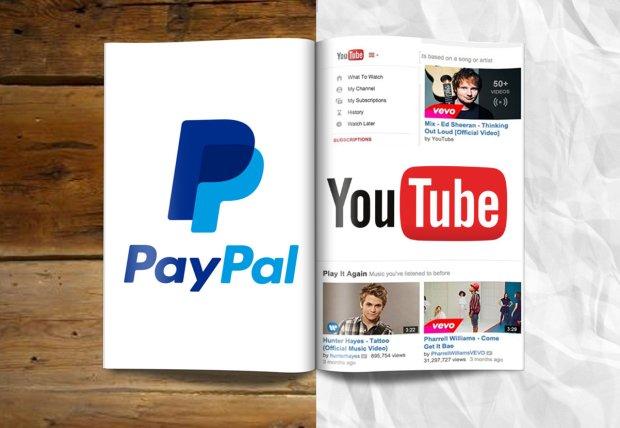 YouTube i PayPal mają ze sobą dużo wspólnego