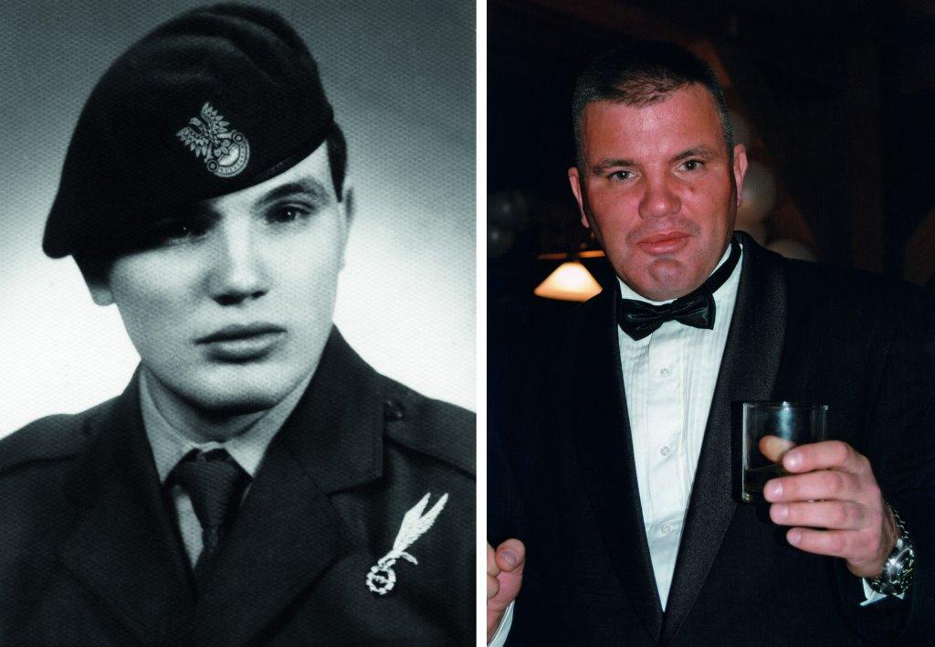 Po lewej Jarosław Pieczonka w mundurze wyjściowym, 1985 rok. Obok 19 lat później, podczas Sylwestra 2004 (fot. archiwum prywatne)