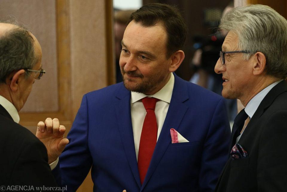 Rzecznik KRS Maciej Mitera i przedstawiciel PiS w KRS, poseł Stanisław Piotrowicz