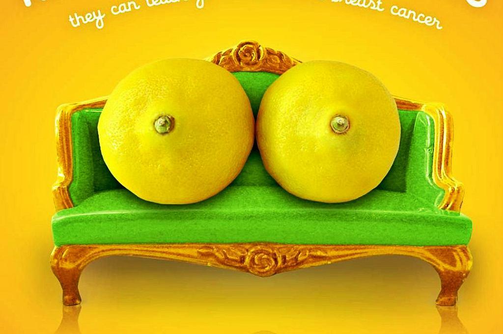 Hasło kampanii kręci się wokół cytryn, które symbolizują kobiecie piersi
