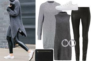 Grube swetry - jesienne inspiracje modą ulicy