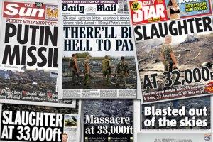 """Brytyjskie tabloidy ostro o katastrofie samolotu: """"Rze�"""", """"Rakiety Putina"""""""