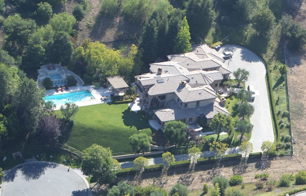 Aerial shots of Denise Richards' home, in Calabasas, on Saturday, July 23rd, 2011 X17online.com EXCLUSIVE *** Local Caption ***  Denise Richards