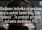 Protest Radiowej Jedynki przeciw ustawie medialnej. Hymn przed serwisem. Słuchacze podzieleni