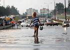 Po burzy woda zala�a ekspres�wk� mi�dzy Sosnowcem a Katowicami [ZDJ�CIA]