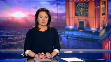Danuta Holecka prowadzi 'Wiadomości' TVP 1, 2.08.2016 r.