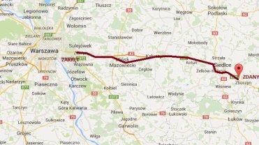 Trasa rolników, którzy zablokują wyjazd z Warszawy