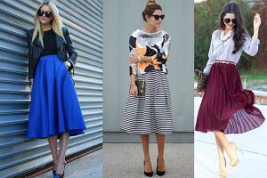 6f28d81b60 Jak nosić trapezową spódnicę  3 przykłady modnych jesiennych stylizacji
