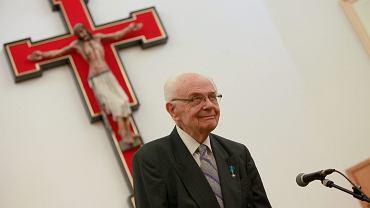 Prof. Jerzy Kłoczowski - spotkanie z prof. Władysławem Bartoszewskim z okazji jego 90. urodzin. Lublin, KUL, 10 marca 2012