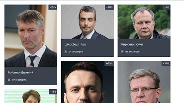 "Strona projektu ""Zamiast Putina""."