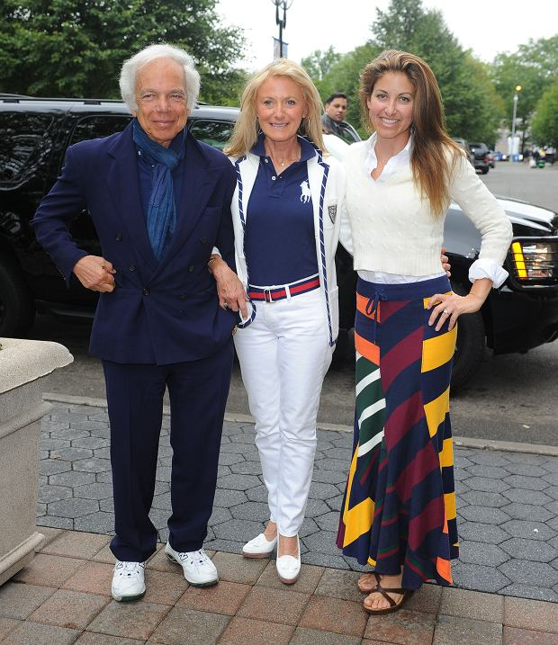 Celebrities at the US Open tennis games in Queens, New York City.<P>Pictured: Ralph Lauren with his wife Ricky Lauren and their daughter Dylan Lauren<P><B>Ref: SPL210143  120910  </B><BR/>Picture by: Splash News<BR/></P><P><B>Splash News and Pictures</B><BR/>Los Angeles:310-821-2666<BR/>New York:212-619-2666<BR/>London:870-934-2666<BR/>photodesk@splashnews.com<BR/></P>