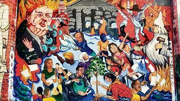 'Uprawa oporu', jeden z wielu antytrumpowskich murali w San Francisco.