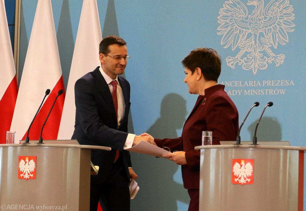 Wicepremier Mateusz Morawiecki i premier Beata Szydło
