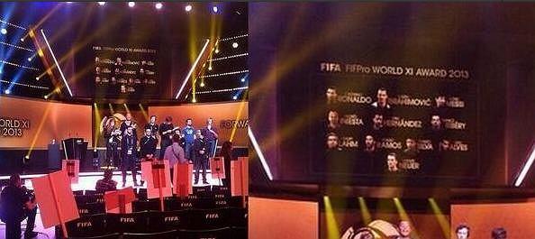 Zdjęcie zrobione przed galą FIFA. Po prawej